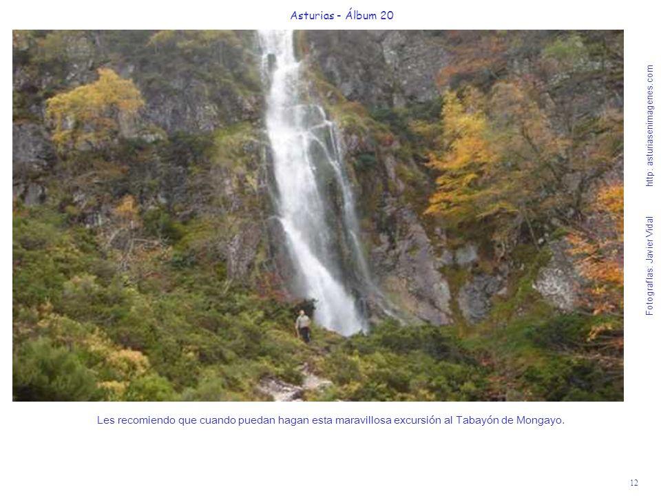 12 Asturias - Álbum 20 Fotografías: Javier Vidal http: asturiasenimagenes.com Les recomiendo que cuando puedan hagan esta maravillosa excursión al Tab
