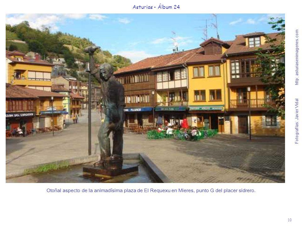 10 Asturias - Álbum 24 Fotografías: Javier Vidal http: asturiasenimagenes.com Otoñal aspecto de la animadísima plaza de El Requexu en Mieres, punto G
