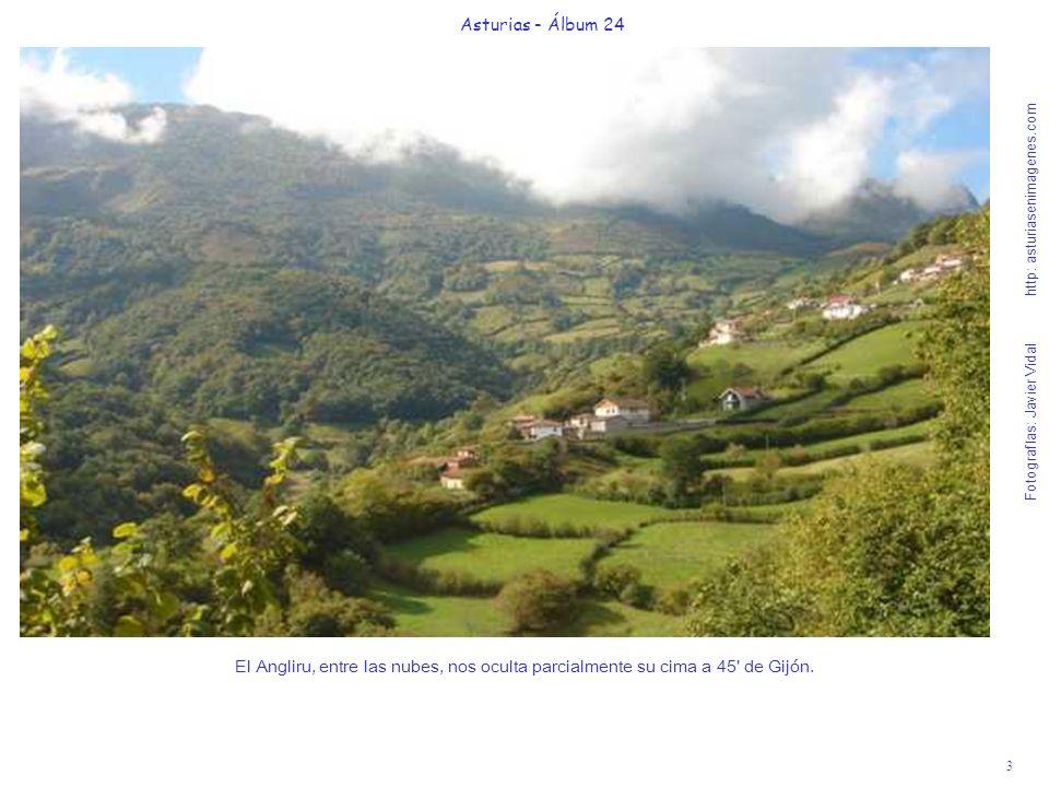 3 Asturias - Álbum 24 Fotografías: Javier Vidal http: asturiasenimagenes.com El Angliru, entre las nubes, nos oculta parcialmente su cima a 45' de Gij