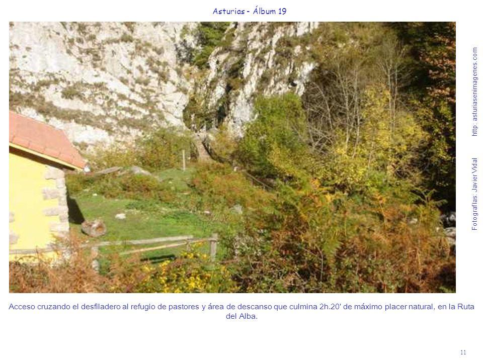 11 Asturias - Álbum 19 Fotografías: Javier Vidal http: asturiasenimagenes.com Acceso cruzando el desfiladero al refugio de pastores y área de descanso que culmina 2h.20 de máximo placer natural, en la Ruta del Alba.