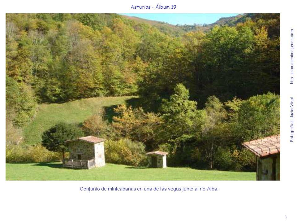 3 Asturias - Álbum 19 Fotografías: Javier Vidal http: asturiasenimagenes.com Conjunto de minicabañas en una de las vegas junto al río Alba.