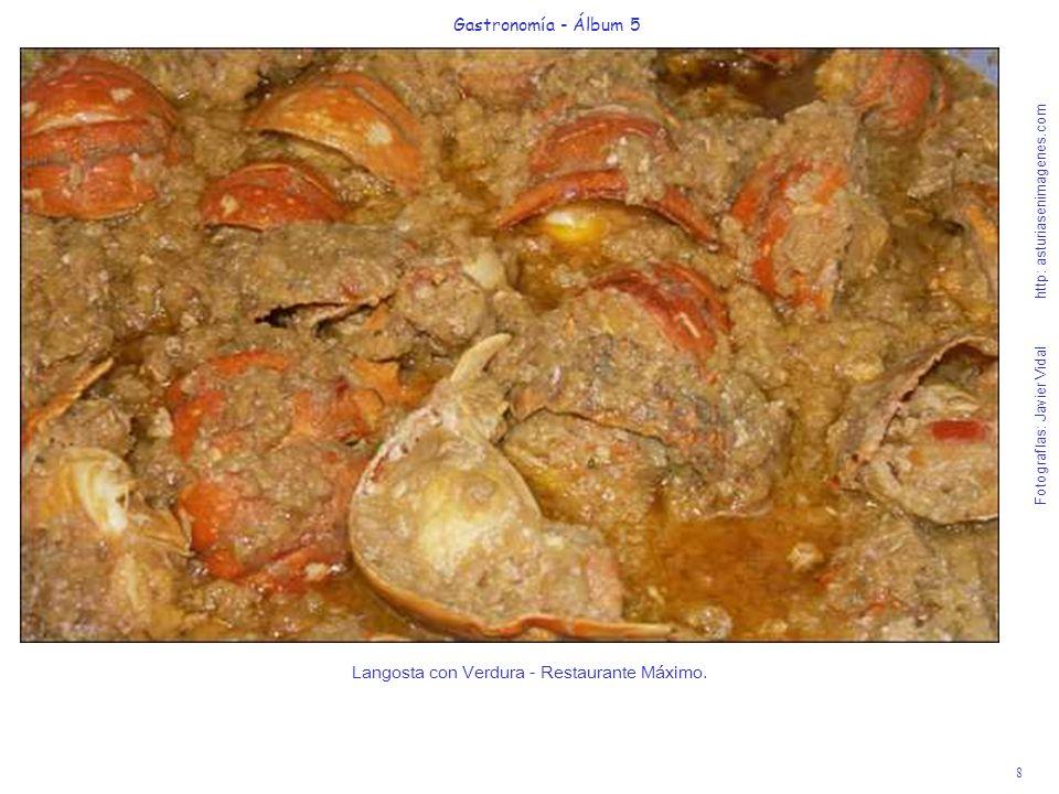 8 Gastronomía - Álbum 5 Fotografías: Javier Vidal http: asturiasenimagenes.com Langosta con Verdura - Restaurante Máximo.