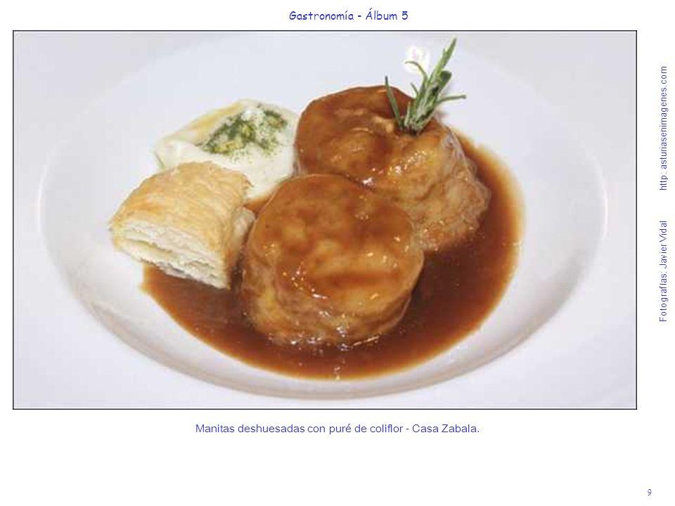 9 Gastronomía - Álbum 5 Fotografías: Javier Vidal http: asturiasenimagenes.com Manitas deshuesadas con puré de coliflor - Casa Zabala.