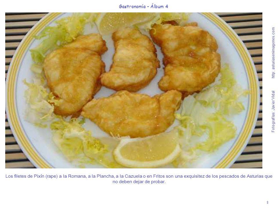 8 Gastronomía - Álbum 4 Fotografías: Javier Vidal http: asturiasenimagenes.com Los filetes de Pixín (rape) a la Romana, a la Plancha, a la Cazuela o e