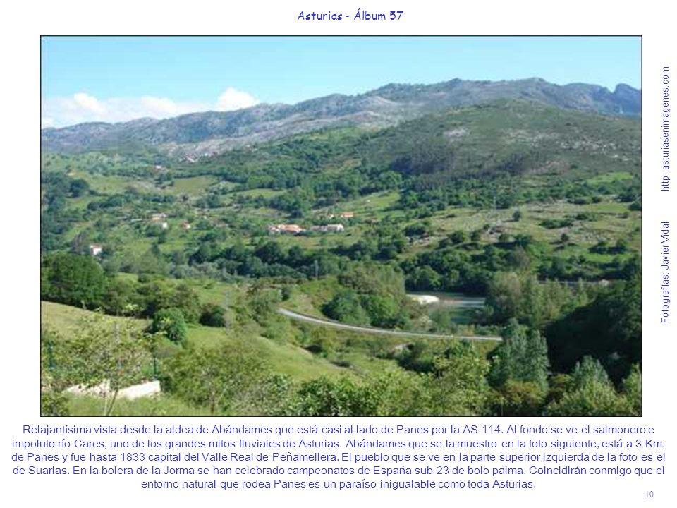 10 Asturias - Álbum 57 Fotografías: Javier Vidal http: asturiasenimagenes.com Relajantísima vista desde la aldea de Abándames que está casi al lado de