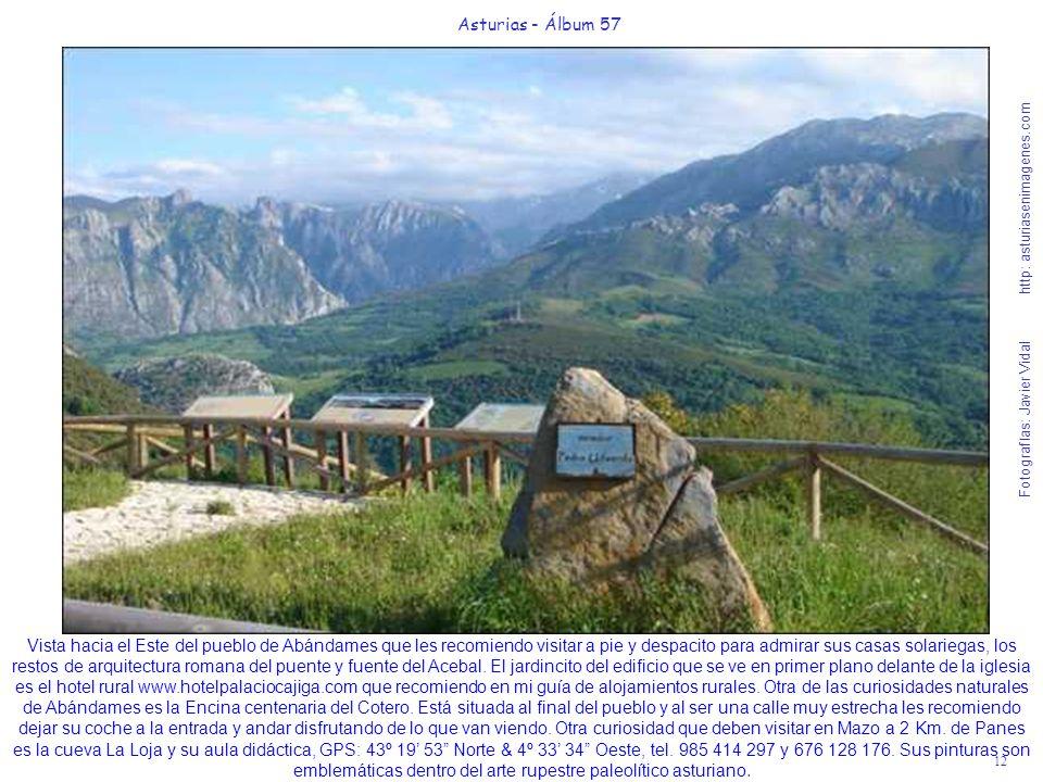 12 Asturias - Álbum 57 Fotografías: Javier Vidal http: asturiasenimagenes.com Vista hacia el Este del pueblo de Abándames que les recomiendo visitar a