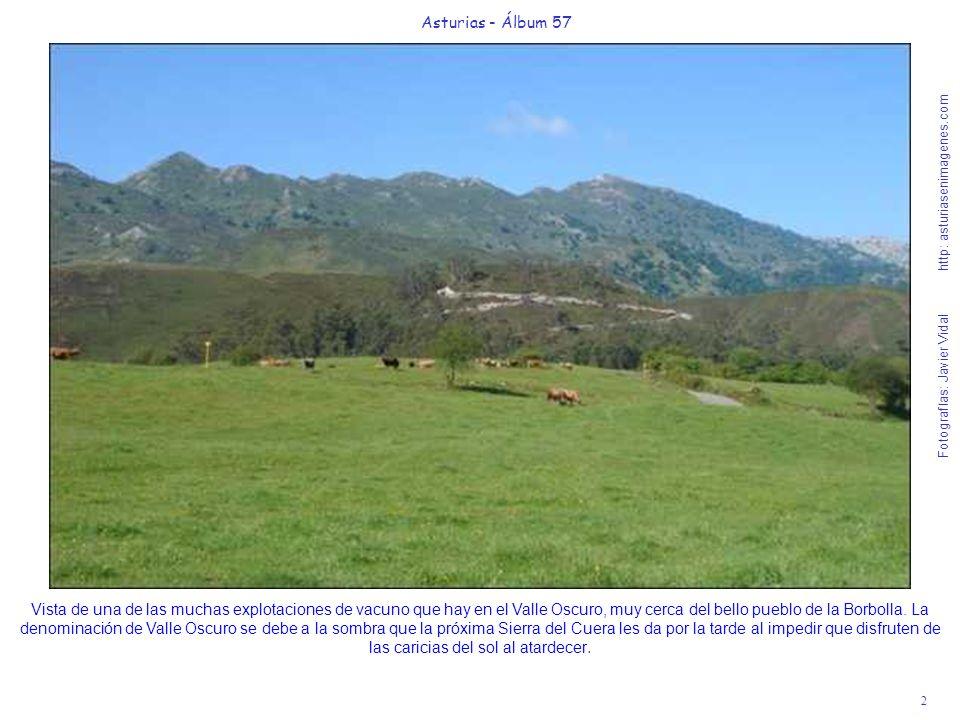 3 Asturias - Álbum 57 Fotografías: Javier Vidal http: asturiasenimagenes.com El pueblo de la Borbolla está en el límite del Concejo de Llanes con el Concejo de Ribadedeva, separados también por el nacimiento del río Cabra bajo la Sierra del Cuera.