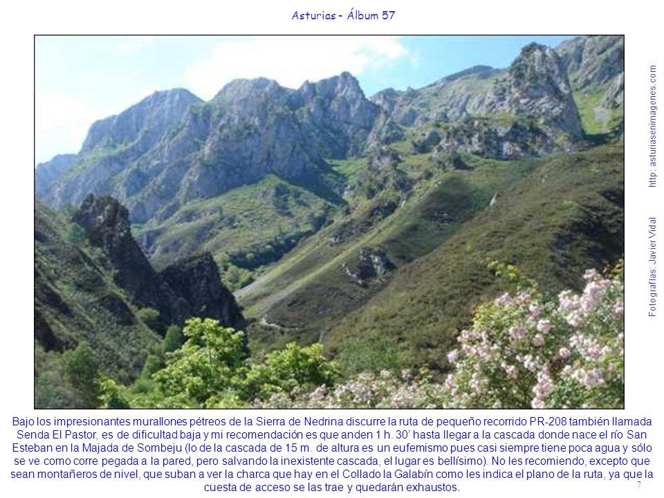 7 Asturias - Álbum 57 Fotografías: Javier Vidal http: asturiasenimagenes.com Bajo los impresionantes murallones pétreos de la Sierra de Nedrina discur