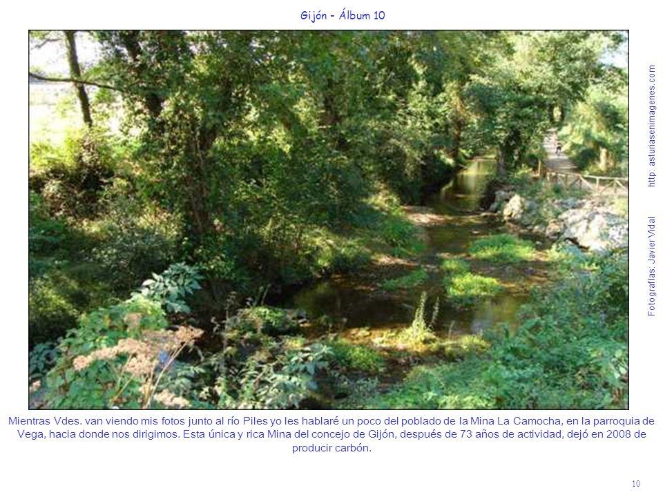 10 Gijón - Álbum 10 Fotografías: Javier Vidal http: asturiasenimagenes.com Mientras Vdes. van viendo mis fotos junto al río Piles yo les hablaré un po