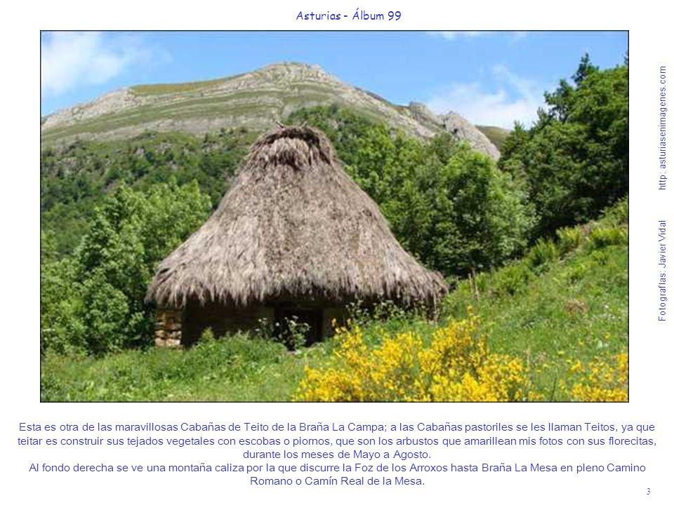 3 Asturias - Álbum 99 Fotografías: Javier Vidal http: asturiasenimagenes.com Esta es otra de las maravillosas Cabañas de Teito de la Braña La Campa; a