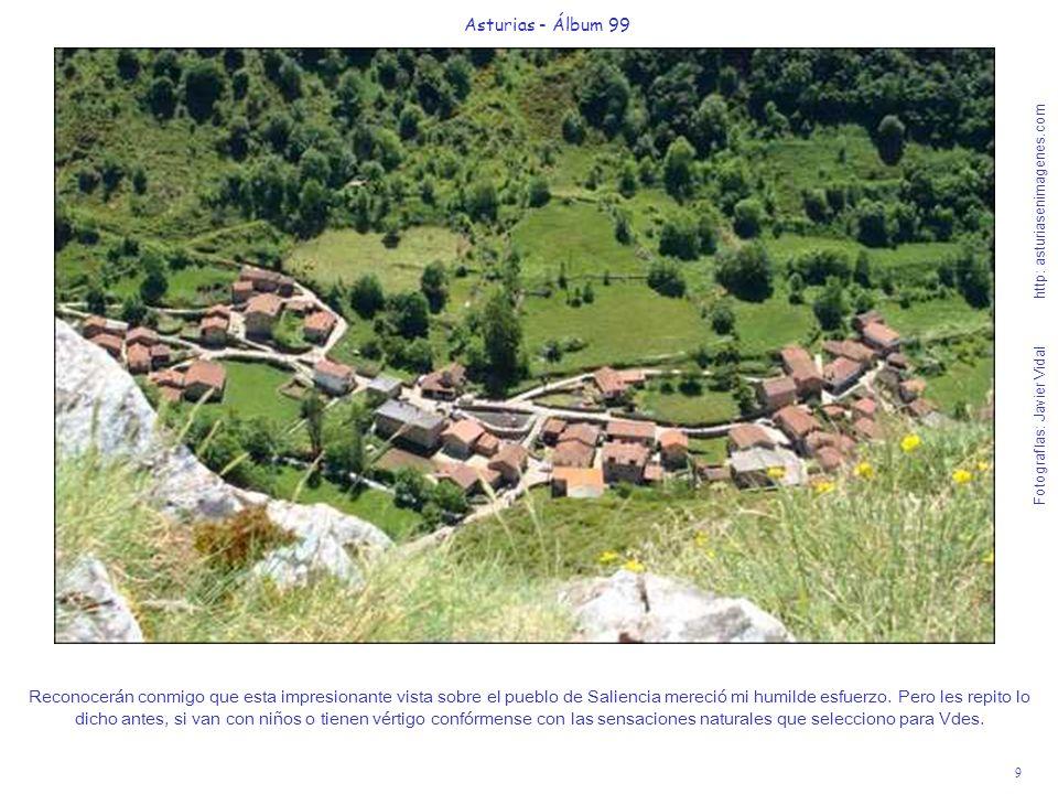 9 Asturias - Álbum 99 Fotografías: Javier Vidal http: asturiasenimagenes.com Reconocerán conmigo que esta impresionante vista sobre el pueblo de Salie