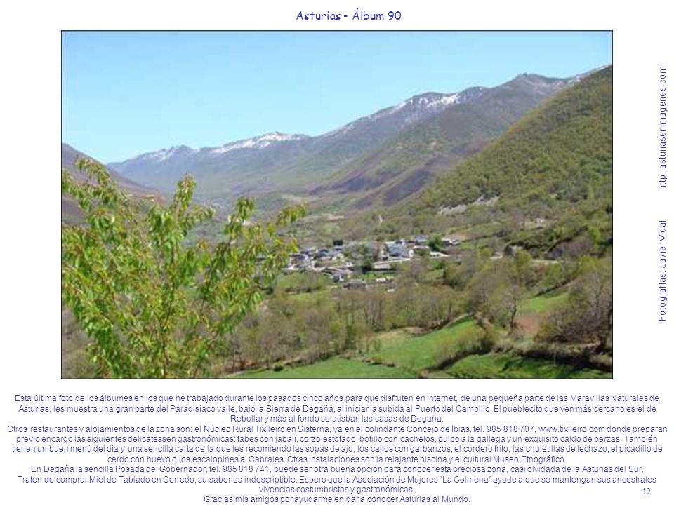 12 Asturias - Álbum 90 Fotografías: Javier Vidal http: asturiasenimagenes.com Esta última foto de los álbumes en los que he trabajado durante los pasa
