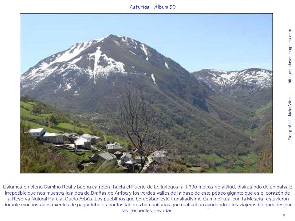 8 Asturias - Álbum 90 Fotografías: Javier Vidal http: asturiasenimagenes.com Estamos en pleno Camino Real y buena carretera hacia el Puerto de Leitari