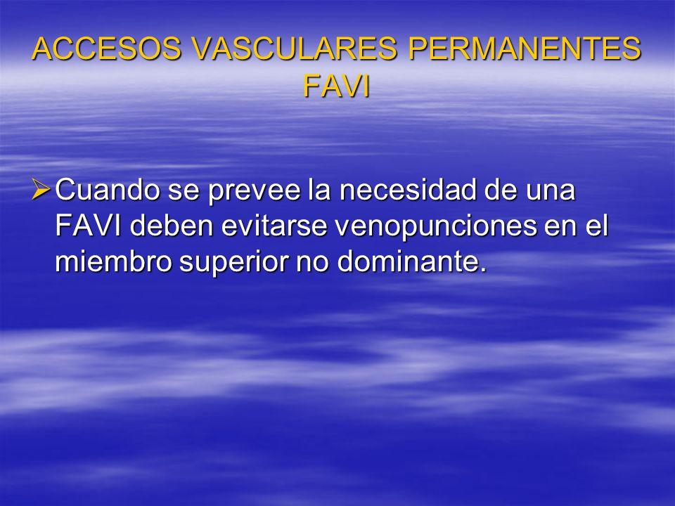 ACCESOS VASCULARES PERMANENTES.