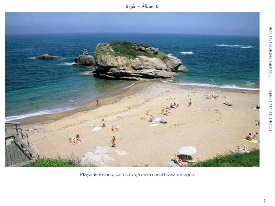 6 Gijón - Álbum 8 Fotografías: Javier Vidal http: asturiasenimagenes.com Playa de Estaño, cala salvaje de la costa brava de Gijón.