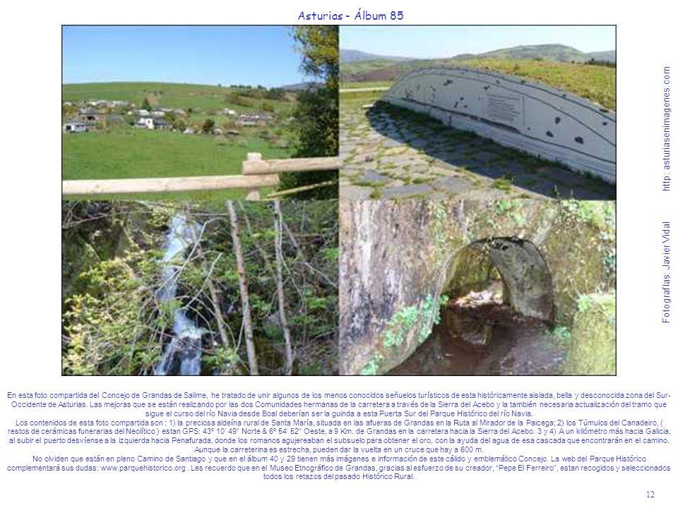 12 Asturias - Álbum 85 Fotografías: Javier Vidal http: asturiasenimagenes.com En esta foto compartida del Concejo de Grandas de Salime, he tratado de