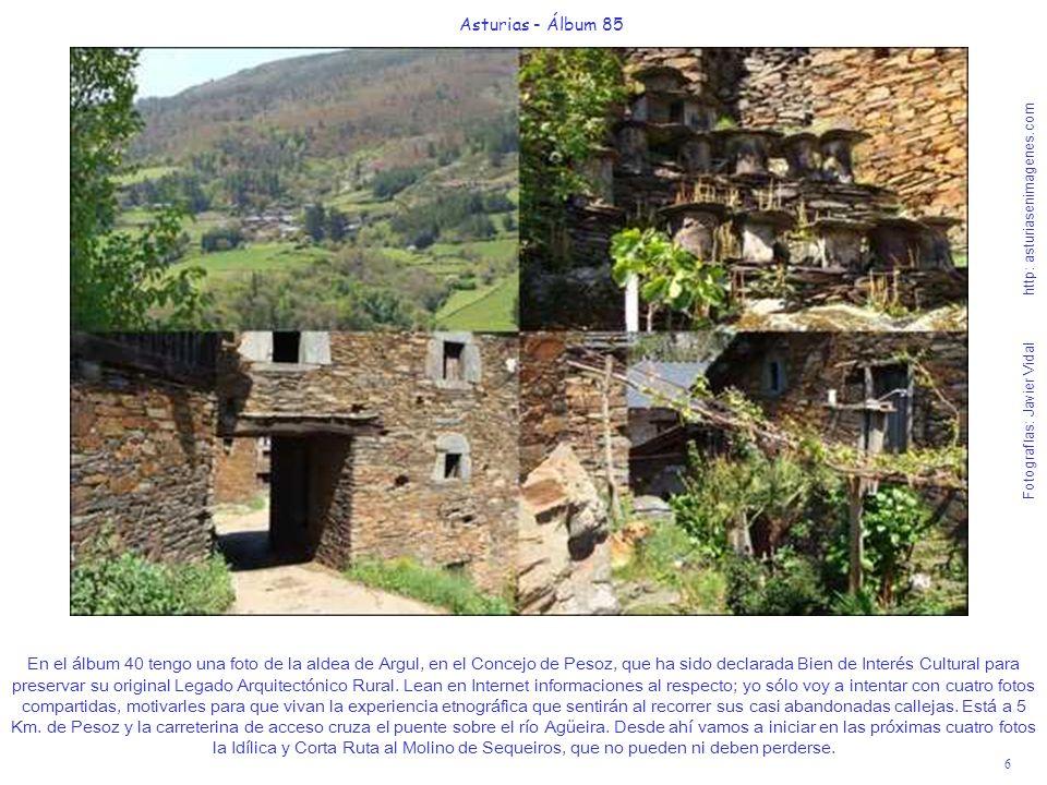 6 Asturias - Álbum 85 Fotografías: Javier Vidal http: asturiasenimagenes.com En el álbum 40 tengo una foto de la aldea de Argul, en el Concejo de Peso