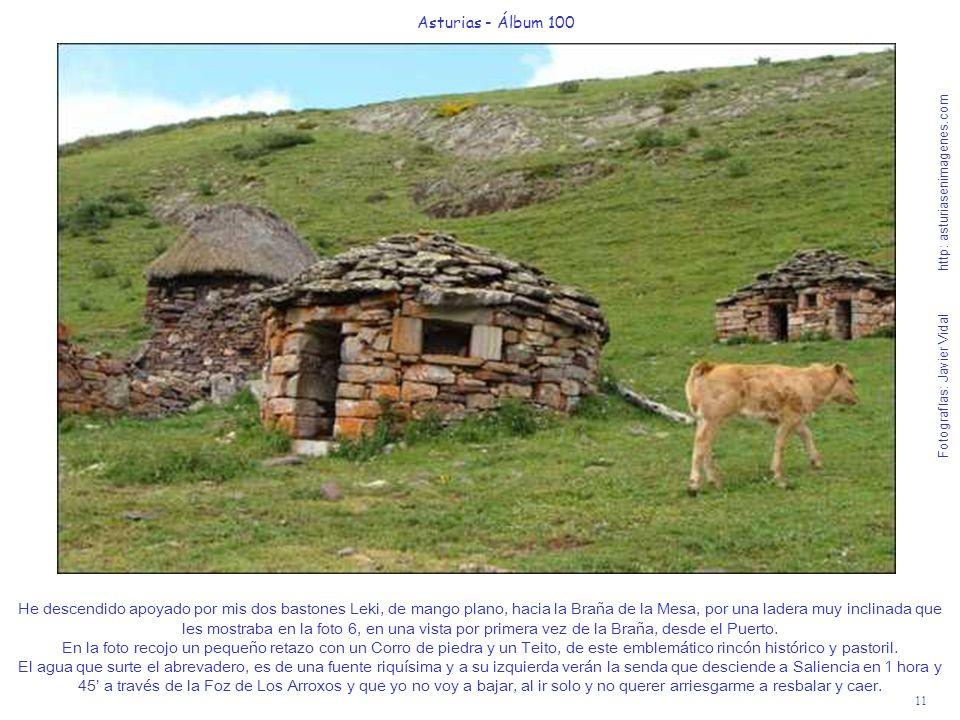 11 Asturias - Álbum 100 Fotografías: Javier Vidal http: asturiasenimagenes.com He descendido apoyado por mis dos bastones Leki, de mango plano, hacia