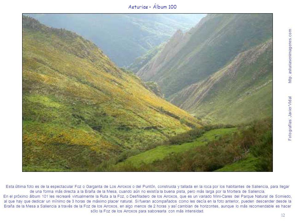 12 Asturias - Álbum 100 Fotografías: Javier Vidal http: asturiasenimagenes.com Esta última foto es de la espectacular Foz o Garganta de Los Arroxos o