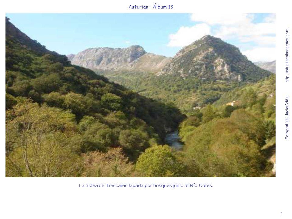 7 Asturias - Álbum 13 Fotografías: Javier Vidal http: asturiasenimagenes.com La aldea de Trescares tapada por bosques junto al Río Cares.