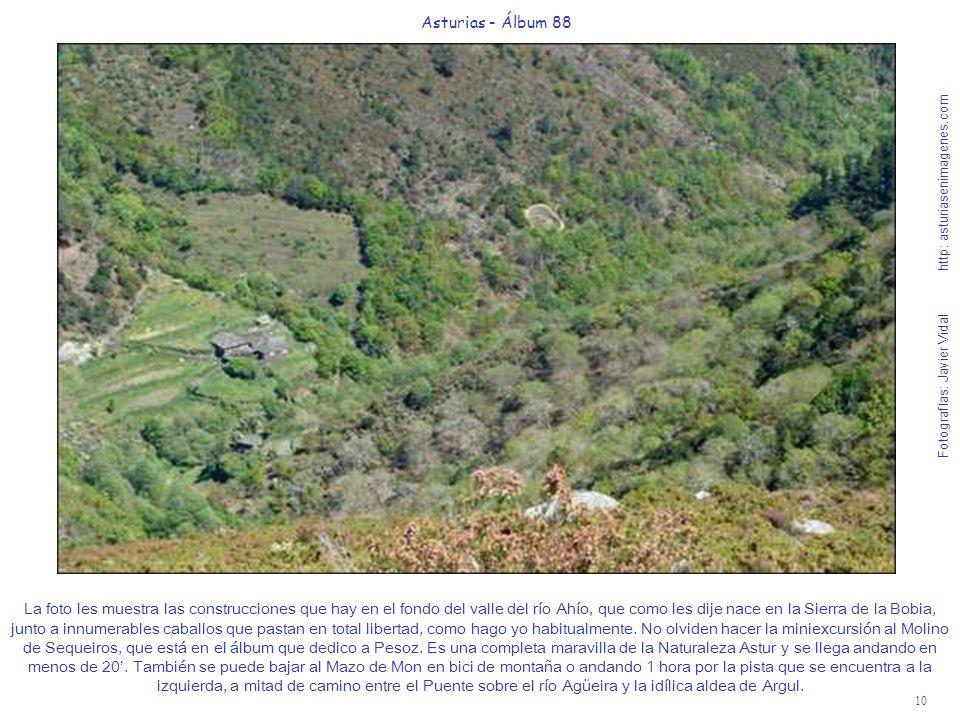 10 Asturias - Álbum 88 Fotografías: Javier Vidal http: asturiasenimagenes.com La foto les muestra las construcciones que hay en el fondo del valle del