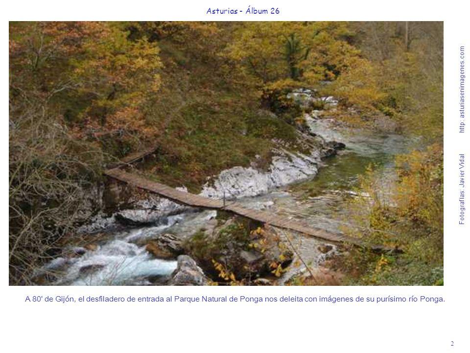 2 Asturias - Álbum 26 Fotografías: Javier Vidal http: asturiasenimagenes.com A 80' de Gijón, el desfiladero de entrada al Parque Natural de Ponga nos
