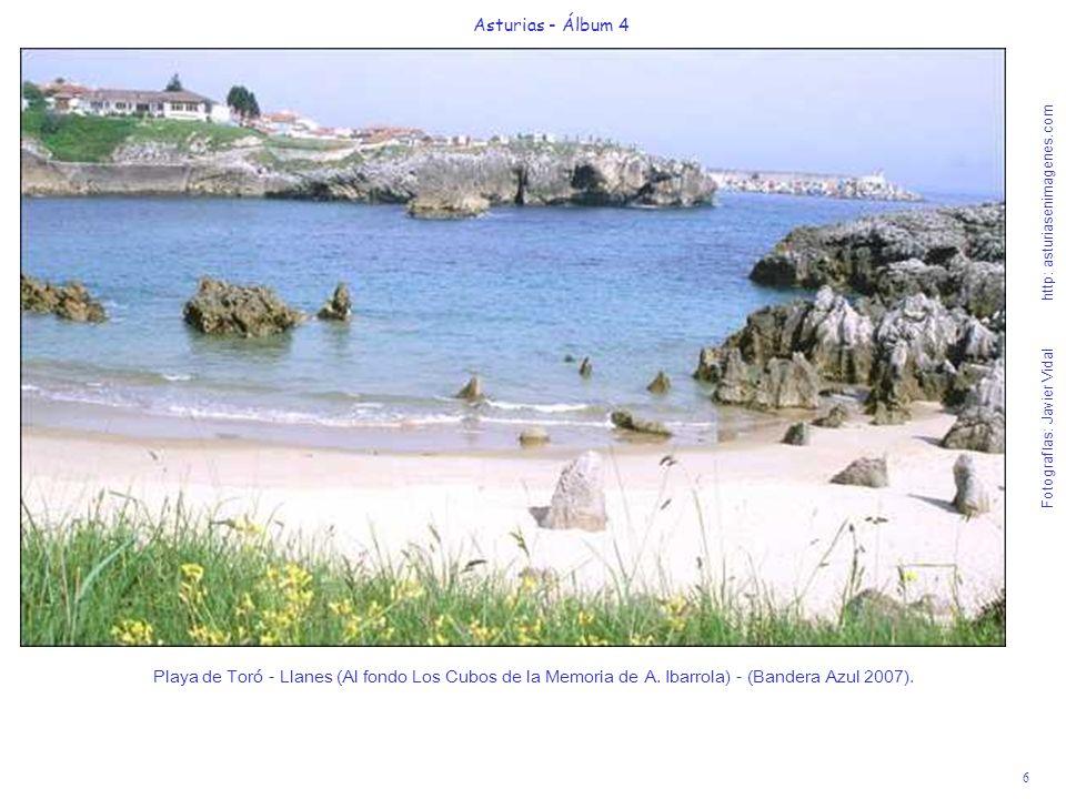 6 Asturias - Álbum 4 Fotografías: Javier Vidal http: asturiasenimagenes.com Playa de Toró - Llanes (Al fondo Los Cubos de la Memoria de A. Ibarrola) -