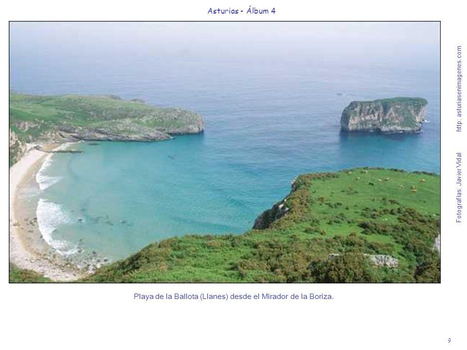9 Asturias - Álbum 4 Fotografías: Javier Vidal http: asturiasenimagenes.com Playa de la Ballota (Llanes) desde el Mirador de la Boriza.