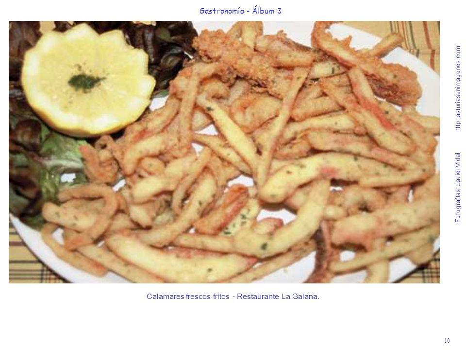 10 Gastronomía - Álbum 3 Fotografías: Javier Vidal http: asturiasenimagenes.com Calamares frescos fritos - Restaurante La Galana.