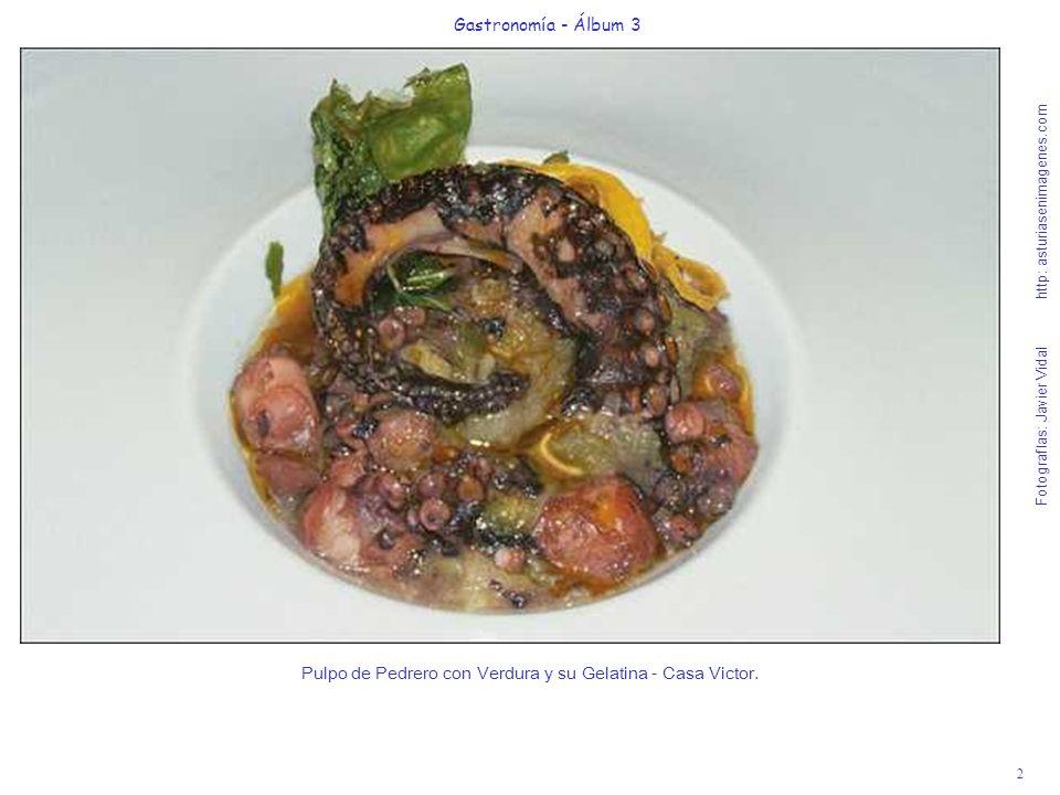 2 Gastronomía - Álbum 3 Fotografías: Javier Vidal http: asturiasenimagenes.com Pulpo de Pedrero con Verdura y su Gelatina - Casa Victor.