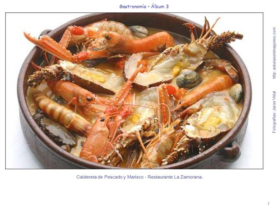 4 Gastronomía - Álbum 3 Fotografías: Javier Vidal http: asturiasenimagenes.com Lomo de Lubina del Cantábrico con Refrito de Ibérico y Avellanas - Restaurante La galana.