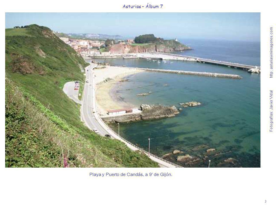 4 Asturias - Álbum 7 Fotografías: Javier Vidal http: asturiasenimagenes.com Iglesia y Playa de Luanco, a 16 de Gijón - Bandera Azul 2005.