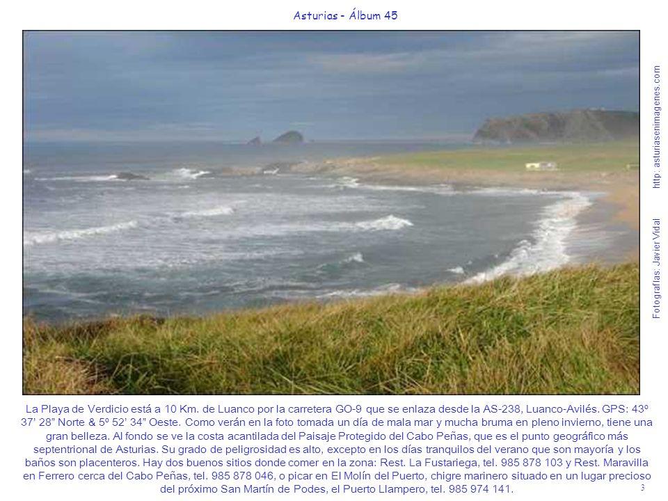 4 Asturias - Álbum 45 Fotografías: Javier Vidal http: asturiasenimagenes.com La Playa del Espartal (Castrillón) está ubicada a continuación de la larguísima Playa de Salinas en su zona oriental y cerca de San Juan de Nieva, al final del borde occidental de la entrada a la Ría de Avilés.