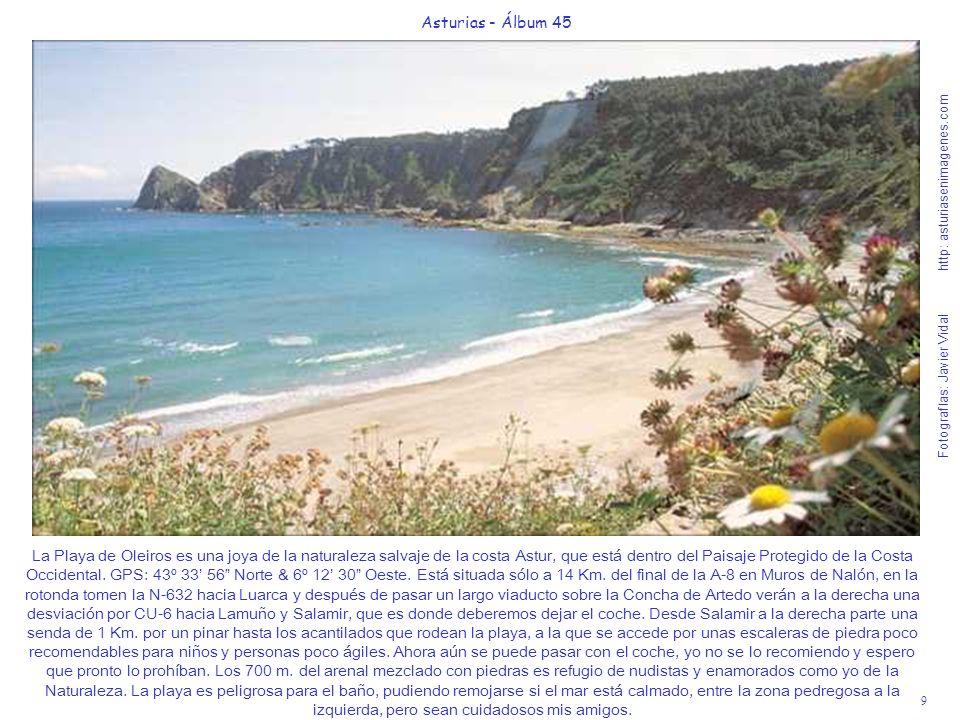 10 Asturias - Álbum 45 Fotografías: Javier Vidal http: asturiasenimagenes.com La Playa de San Pedro de la Ribera (Cudillero), Bandera Azul 2008.