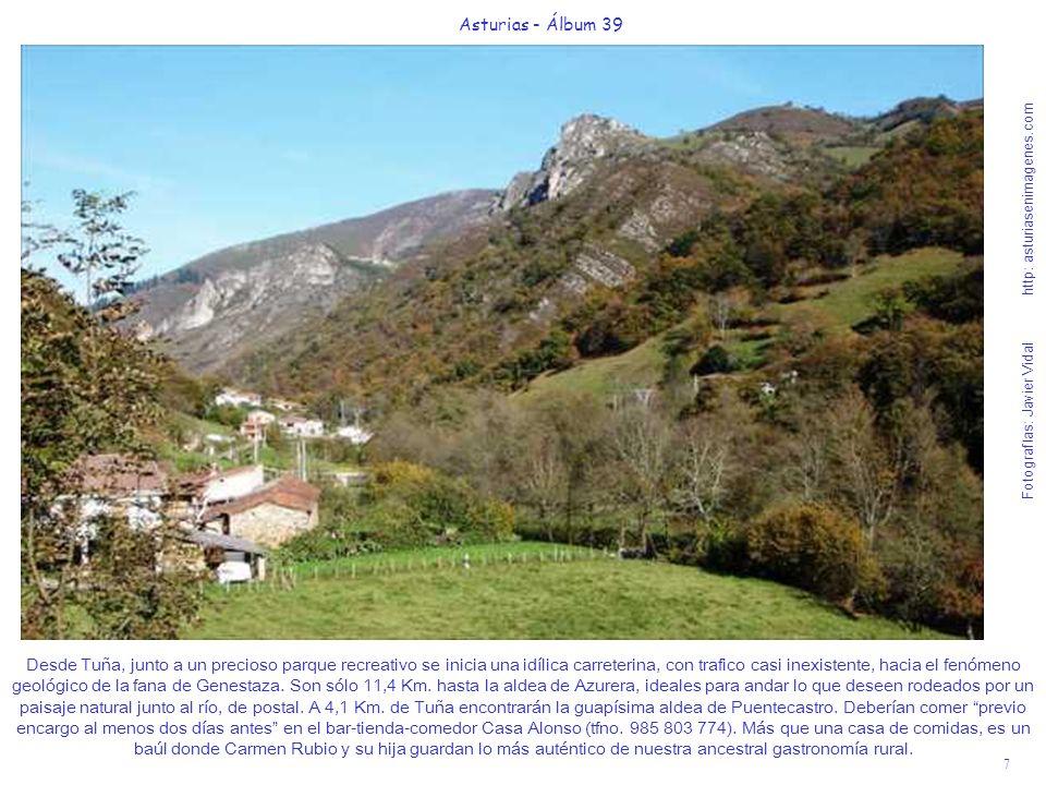 7 Asturias - Álbum 39 Fotografías: Javier Vidal http: asturiasenimagenes.com Desde Tuña, junto a un precioso parque recreativo se inicia una idílica c