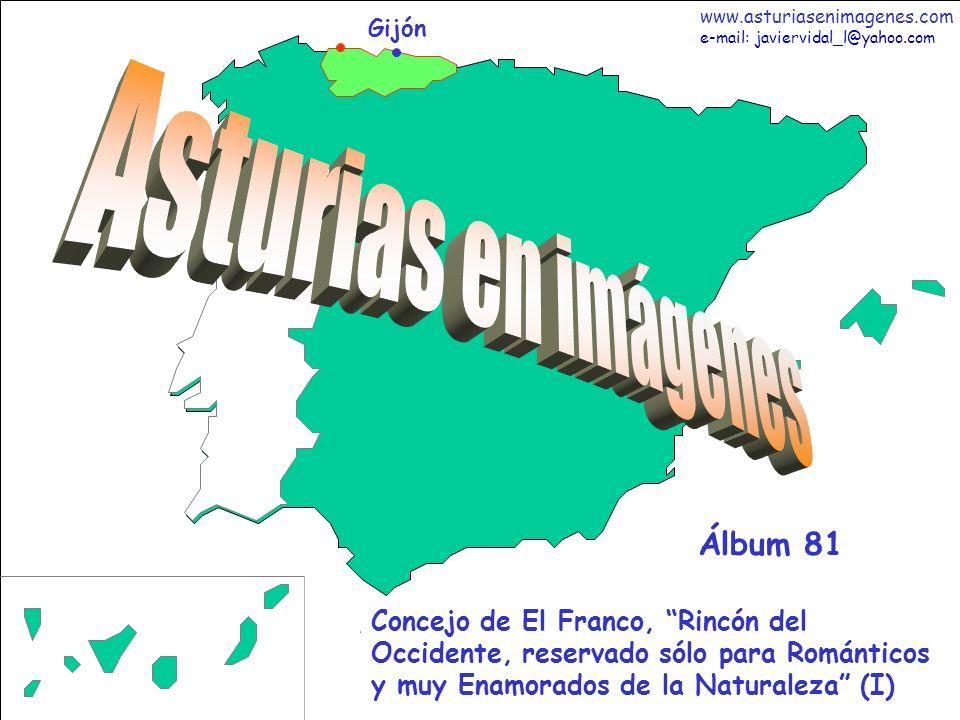 1 Asturias - Álbum 81 Gijón Concejo de El Franco, Rincón del Occidente, reservado sólo para Románticos y muy Enamorados de la Naturaleza (I) Álbum 81