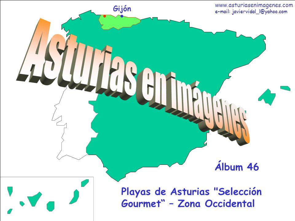12 Asturias - Álbum 46 Fotografías: Javier Vidal http: asturiasenimagenes.com La Playa de Arnao en Castropol (nueva Bandera Azul 2008) es la maravilla natural más occidental de Asturias junto al Mar Cantábrico.