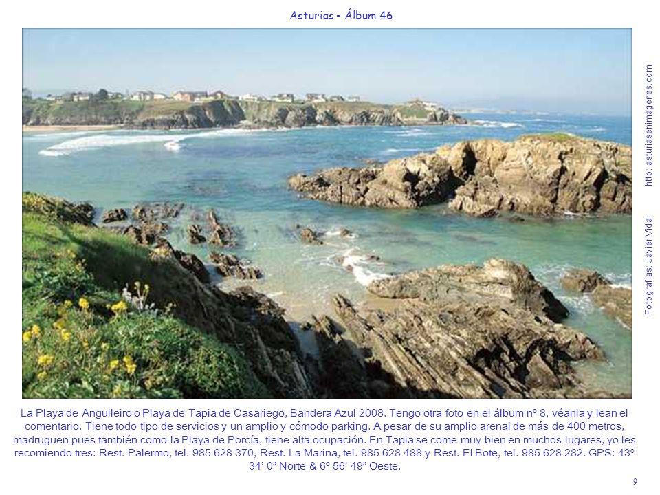 9 Asturias - Álbum 46 Fotografías: Javier Vidal http: asturiasenimagenes.com La Playa de Anguileiro o Playa de Tapia de Casariego, Bandera Azul 2008.