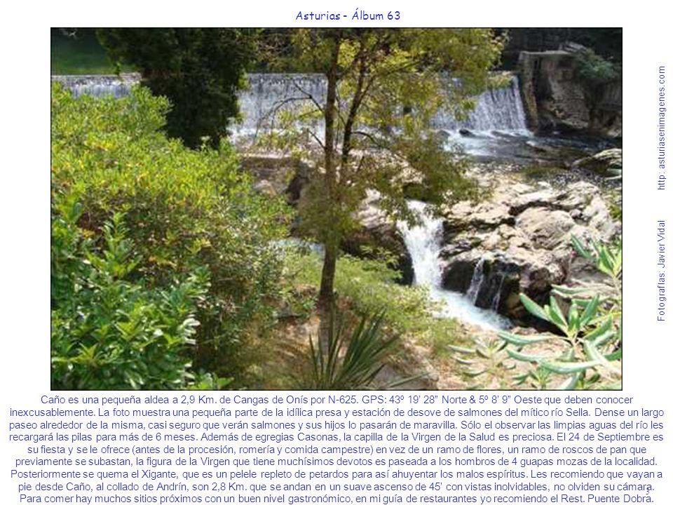 3 Asturias - Álbum 63 Fotografías: Javier Vidal http: asturiasenimagenes.com Caño es una pequeña aldea a 2,9 Km. de Cangas de Onís por N-625. GPS: 43º