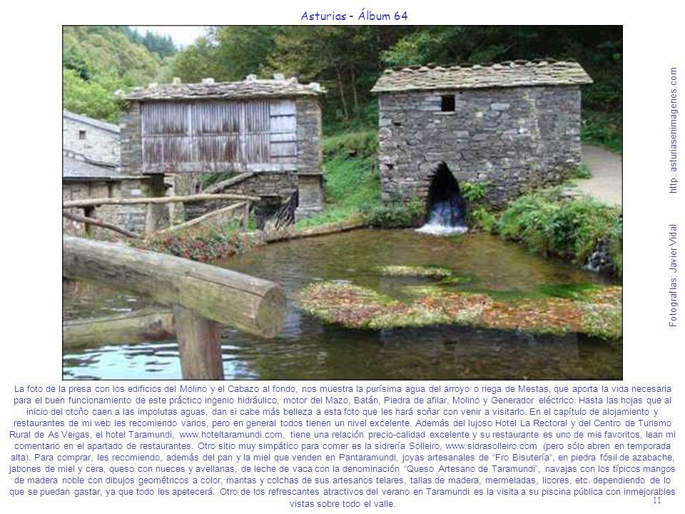11 Asturias - Álbum 64 Fotografías: Javier Vidal http: asturiasenimagenes.com La foto de la presa con los edificios del Molino y el Cabazo al fondo, n