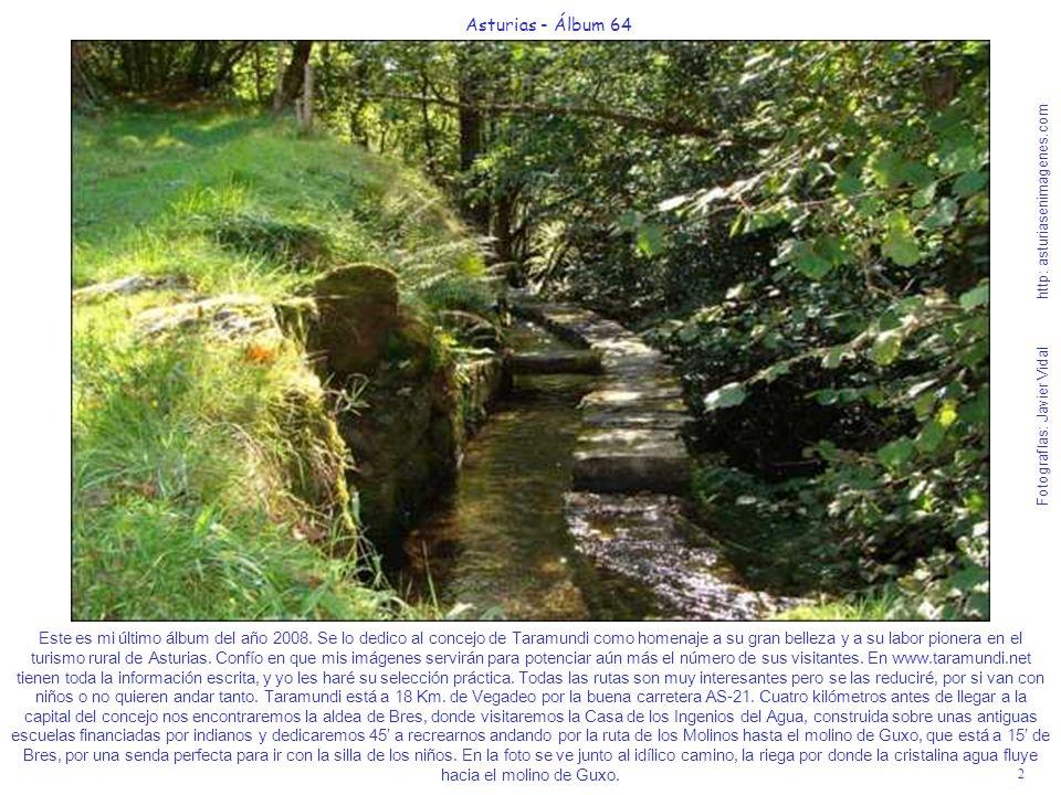 3 Asturias - Álbum 64 Fotografías: Javier Vidal http: asturiasenimagenes.com El molino de Guxo es el único que está en perfecto funcionamiento de los que hay en la ruta de los Molinos.