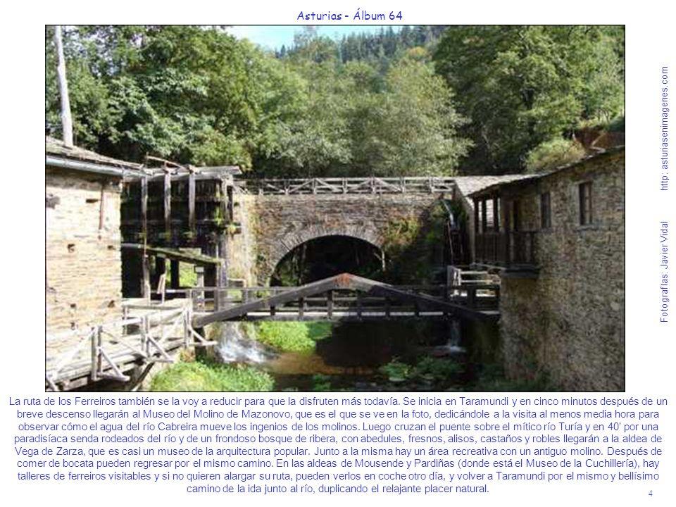 4 Asturias - Álbum 64 Fotografías: Javier Vidal http: asturiasenimagenes.com La ruta de los Ferreiros también se la voy a reducir para que la disfrute