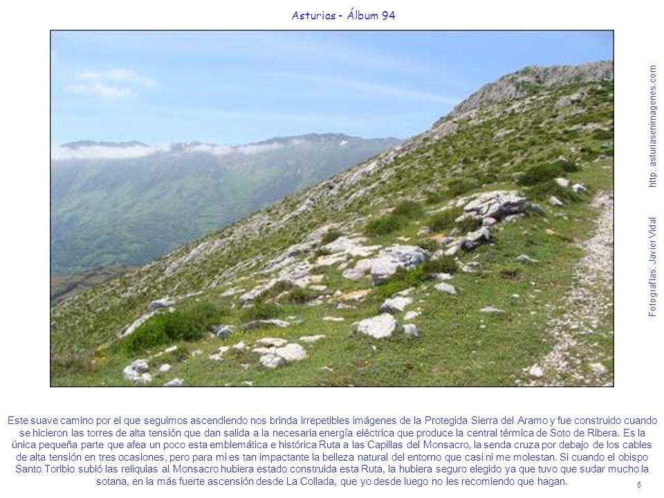 6 Asturias - Álbum 94 Fotografías: Javier Vidal http: asturiasenimagenes.com Este suave camino por el que seguimos ascendiendo nos brinda irrepetibles