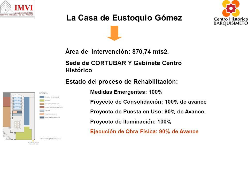 La Casa de Eustoquio Gómez Área de Intervención: 870,74 mts2.