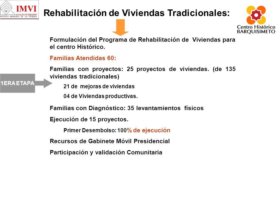Rehabilitación de Viviendas Tradicionales: Formulación del Programa de Rehabilitación de Viviendas para el centro Histórico.