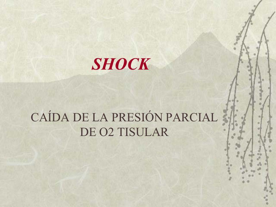 SHOCK CAÍDA DE LA PRESIÓN PARCIAL DE O2 TISULAR