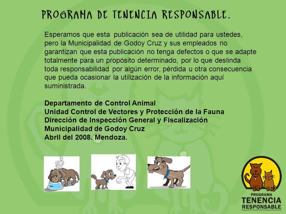 Esperamos que esta publicación sea de utilidad para ustedes, pero la Municipalidad de Godoy Cruz y sus empleados no garantizan que esta publicación no