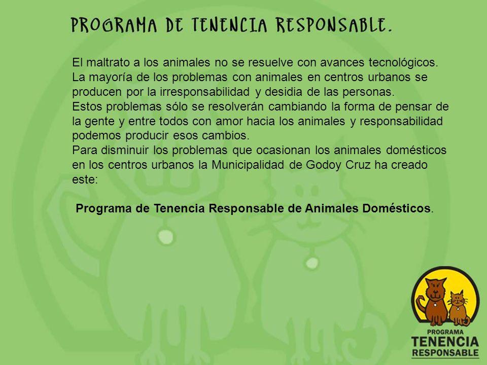 Bienvenido al Programa para las Escuelas de Propietario Responsable de Animales de la Municipalidad de Godoy Cruz Este CD se ha pensado para los niños de las escuelas primarias.