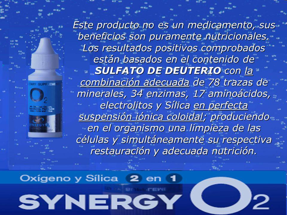 Este producto no es un medicamento, sus beneficios son puramente nutricionales. Los resultados positivos comprobados están basados en el contenido de