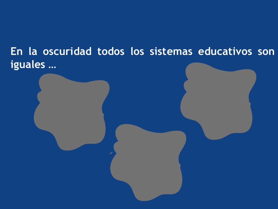 En la oscuridad todos los sistemas educativos son iguales …